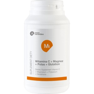 MT Witamina C + Magnez + Potas + Glutation - 450g. Invex Remedies