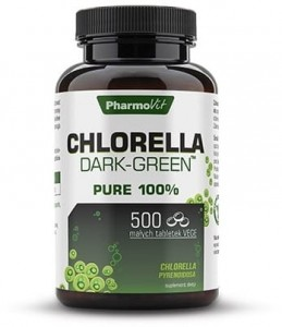 Chlorella Dark-Green 500 tabletek Chlorella pyrenoidosa - Pharmovit