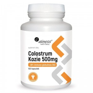 Colostrum kozie 500mg. 100 kaps. Aliness