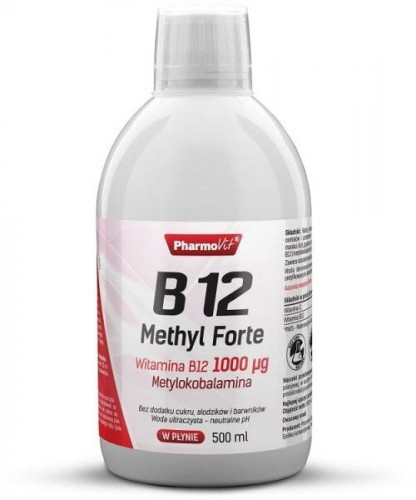 Witamina B12 Methyl Forte 500ml. 1000 µg Metylokobalamina - Pharmovit . www.witaminowybazar.pl